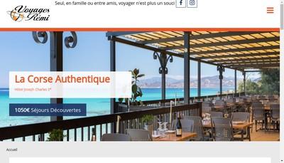 Site internet de Voyages Remi