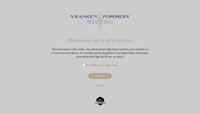 Site internet de Vranken Pommery