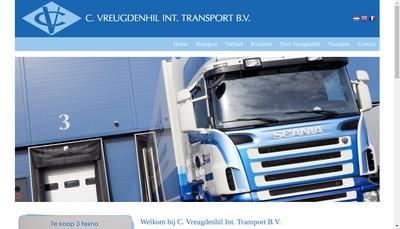 Site internet de NV Transports