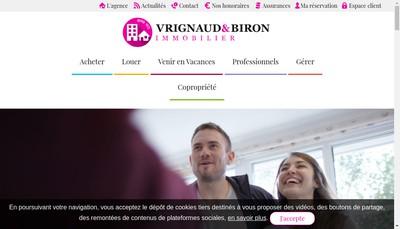 Site internet de Vrignaud & Biron Immobilier - Vb Conseil