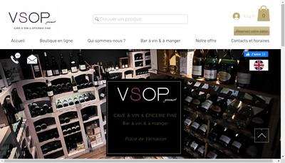Site internet de Vsop Gourmet