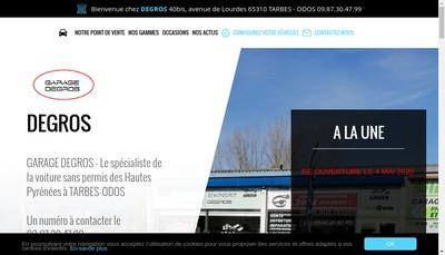Site internet de Garage Degros