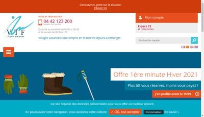 Site internet de Vacances Tourisme Famille