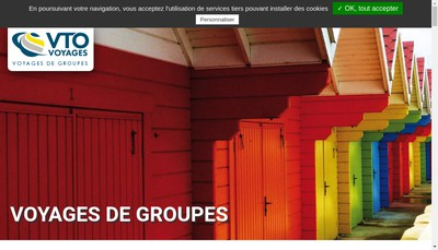 Site internet de Vto Voyages - Culture du Monde