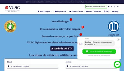 Site internet de Vuac
