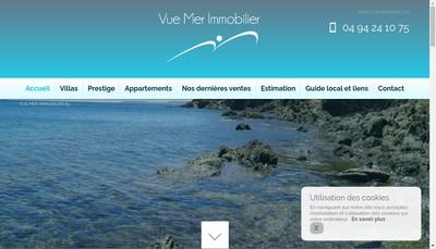 Site internet de Vue Mer Immobilier 83
