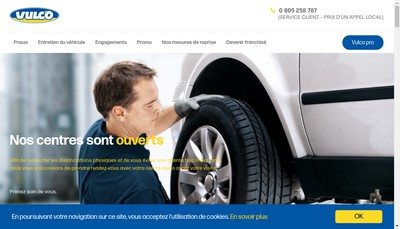 Site internet de Vulco
