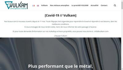 Site internet de Vulkam