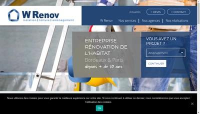 Site internet de W-Renov
