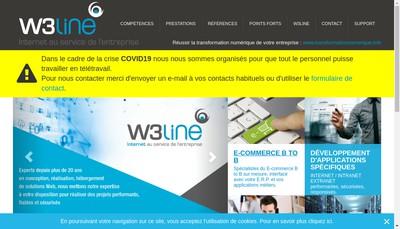 Site internet de W3Line