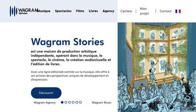 Site internet de Wagram Music