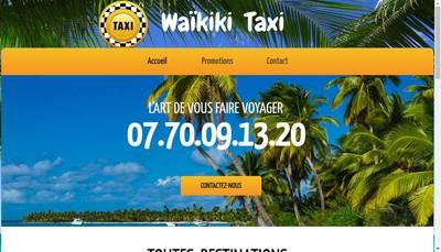 Site internet de Waikiki Taxi