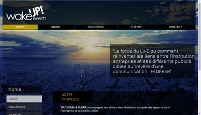 Site internet de S'Cape Travel - The Blue Yellow Company