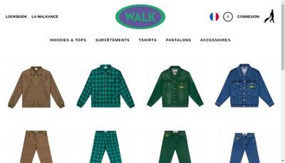 Site internet de Walk In Paris