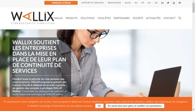 Site internet de Wallix
