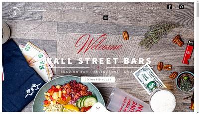 Site internet de Wall Street Bar