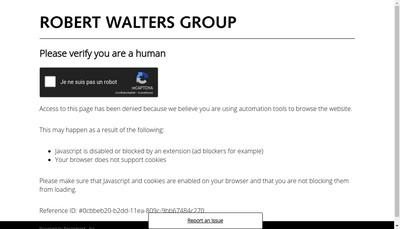 Site internet de Walters People Business Support