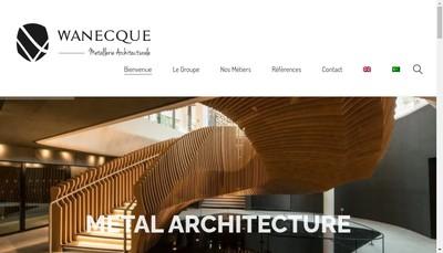 Site internet de Wanecque Metallerie