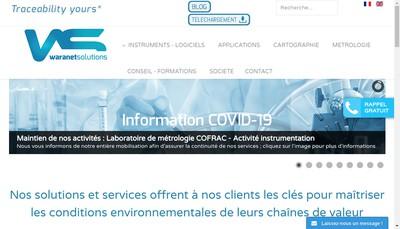 Site internet de Waranet Solutions