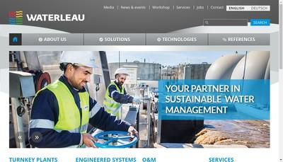 Site internet de Waterleau France