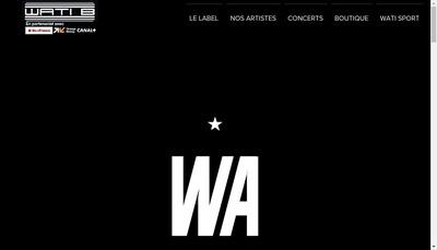 Site internet de Wati B Corporate
