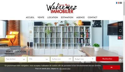 Site internet de Watremez Immobilier