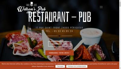 Site internet de Watson'S Pub