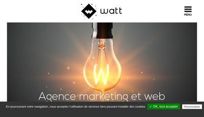 Site internet de Watt Communication