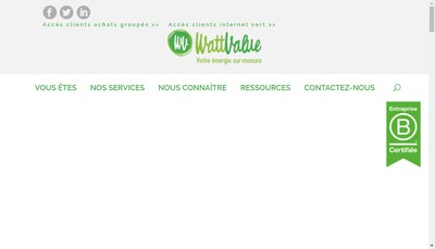 Site internet de Wattvalue