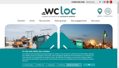 Site internet de Wc Loc - Pmd