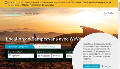 Site internet de We-Van