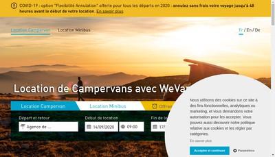 Site internet de We Van