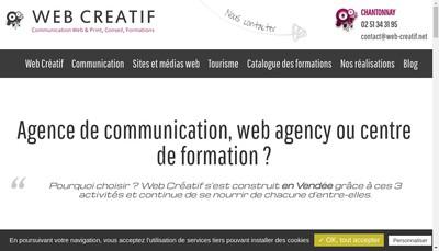 Site internet de Web Creatif