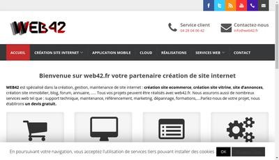 Site internet de Web42