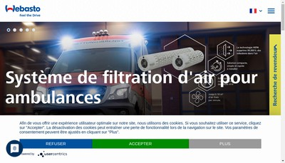 Site internet de Webasto Thermo & Comfort France SAS