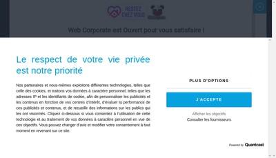 Site internet de Web Corporate