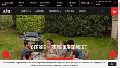 Site internet de Weber Stephen France SARL