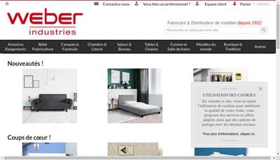 Site internet de Weber Industries