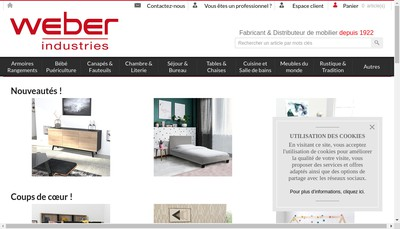 Site internet de Weber Finance
