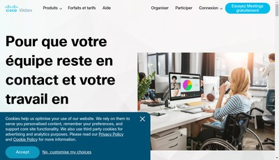 Site internet de Webex Communications France SARL