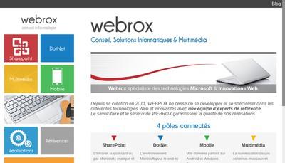 Site internet de Webrox