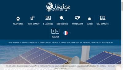 Site internet de Wedge Business School Wedge Institute