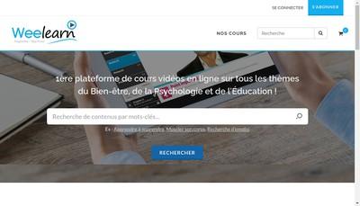 Site internet de Weelearn
