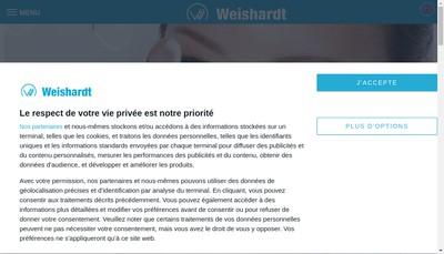 Site internet de SA Weishardt Holding