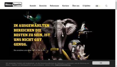 Site internet de Weiss Appetito