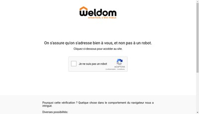Site internet de Weldom