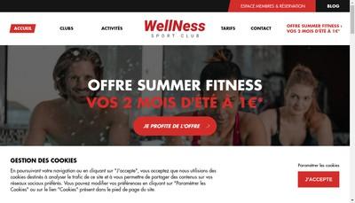 Site internet de Wellness Sport Club