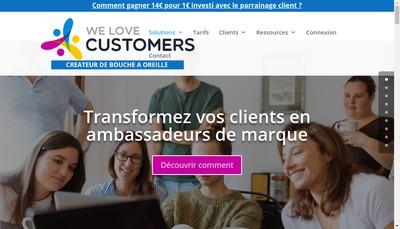 Site internet de We Love Customers