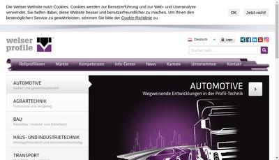 Site internet de Welser Profiles SARL