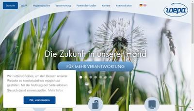 Site internet de Wepa France